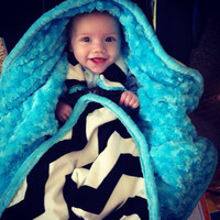 Car Seat/Stroller COZY Blanket with Harness Holes- Ships in 1-3 Days
