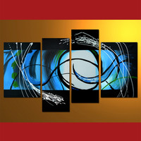 GMD4006  4-PCS Group Oil Painting