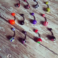 Belly Ring Set - Assorted Colors from Ever