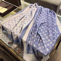 Perfect Louis Vuitton LV Woman Cashmere Scarf Shawl Silk Scarf