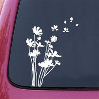 "Flowers in the Wind - Car Vinyl Decal Sticker - (5.5""w x 7.5""h)"
