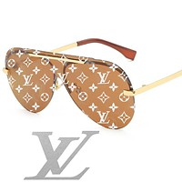 Onewel Louis vuitton sells LV casual women's printed beach sunglasses black