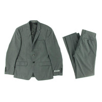 DKNY Mens Wool Pindot Two-Button Suit