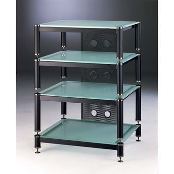 BLG Series 4 Shelf Modular Expandable Audio Rack Multiple Finishes