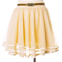 Delicacy Triple Layers Tutu in Ivory Beige
