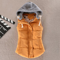 Plus Size 8 Colors Fashion Autumn Winter Coat Women Ladies Gilet Colete Feminino Casual Waistcoat Female Sleeveless Jacket AE269