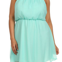 Plus Size Mallorie Halter Mini Dress