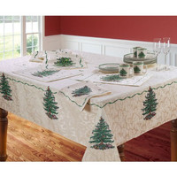 Spode Christmas Tree Decorative Fabric Table Cloth