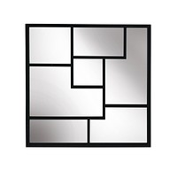 "Metal Frame 28"" Wall Mirror ,Black - Wb"
