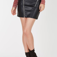 Hush Hush Faux Leather Skirt