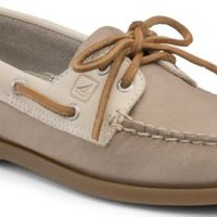 Sperry Top-Sider Authentic Original Two-Tone 2-Eye Boat Shoe Gray/Oat, Size 9.5M  Women's Shoes