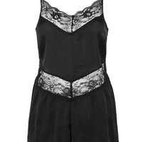 Lace Trim Playsuit by Band Of Gypsies - Topshop