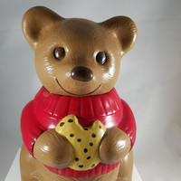 Brown Bear with Red Sweater Cookie Jar (917)