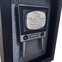 Twilight Zone Television Episodes 3D Art Rod Serling 1960s Pop Art Print TV