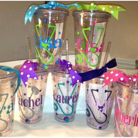 Personalized Nurse Tumbler; Stethoscope; Cross; Gift; Cute
