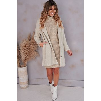 Feeling Protected Button Front Coat (Ash)