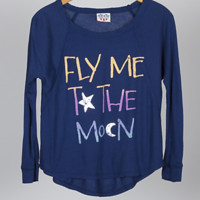 Kids Girls Fly Me to the Moon Long Sleeve Tee - Kid's Girls Collections - Characters - All - Junk Food Clothing
