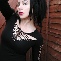 Goth Zombie Steampunk Post Apocalyptic Shredded Top