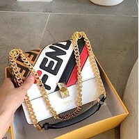 Fendi 2020 New KANI Colorblock Chain Bag Shoulder Bag Crossbody Bag