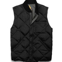 Liner Down Vest In Black