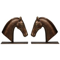 Derby Bookends Set of 2 in Bronze
