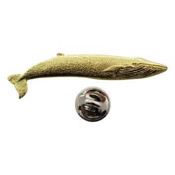 Blue Whale Pin ~ 24K Gold ~ Lapel Pin