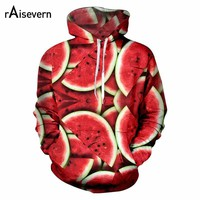 Raisevern New Watermelon Hoodies 3d Funny Fruit Print Men Women Unisex Streetwear 2018 Fashion Hoody Sweatshirts Dropship
