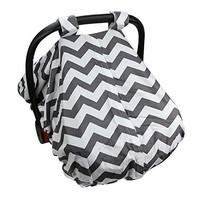 Baby Infant Car Seat Cover - Fits All Baby Car-Seats - Breathable Fabric, 100% Safe And Hygienic - Conveniently Compact Design - Machine Washable!