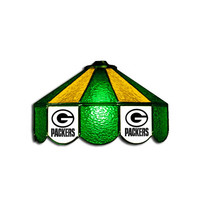 Green Bay Packers NFL 16 Inch Billiards Stained Glass Lamp