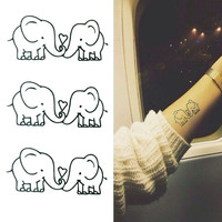 5pcs Elephant Tattoo Removable Waterproof Temporary Tattoos Body Art Tattoo Stickers