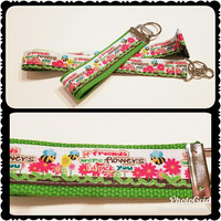 If friends were flowers I'd pick you - lanyard and keychain, Gift for her, Christmas gift, Best friend gift, Friendship gift