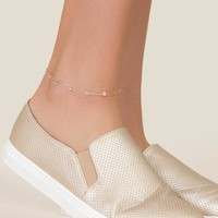 Aria Delicate Cubic Zirconia Anklet in Rose Gold