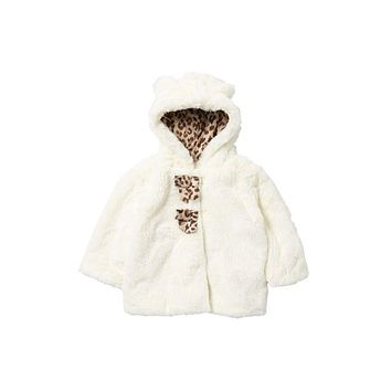 Jessica Simpson Baby Girl Faux Fur Hooded Jacket