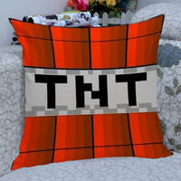 TNT bom  minecraft  pillow case,one side and two side /pillow cover