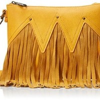 Urban Originals Women's Convertible Fringe Clutch, Red