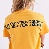 Only The Strong Survive Cropped Tee   Urban Outfitters
