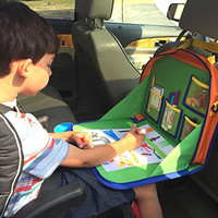 Backseat Car Organizer For Kids Holds Crayons Markers And an iPad Kindle or Other Tablet. Great for Road Trips and Travel used as a Tray Writing Surface or as Access to Electronics for Kids Age 3+