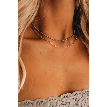 Moonbeam Layered Necklace (Silver)