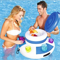 Inflatable Water Ice Bucket (Blue)