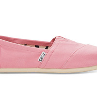 TOMS Pink Icing Canvas Women's Classics Pink