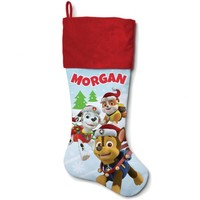 Personalized Paw Patrol Holiday Pups Red Cuff Stocking - Walmart.com