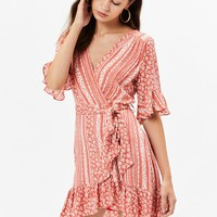 Suns Out Wrap Dress | Pacsun