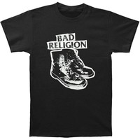 Bad Religion Men's  Up The Punx T-shirt Black Rockabilia