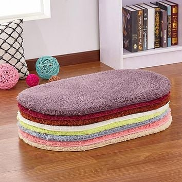 Anti-Skid Fluffy Shaggy Area Rug Home Room Carpet Floor Mats Bedroom Bathroom Floor Door
