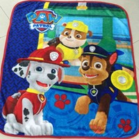 Home textiles paw patrol Children Cartoon pattern Coral fleece Paw Patrol blankets can be as bedclothes the throws size 100 130