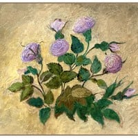 Study of Rose Flowers by John Ruskin Counted Cross Stitch Pattern