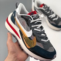 "Bunchsun Sacai x Nike Pegasus VaporFly SP ""Green/Yellow"" Men's Running Shoes"