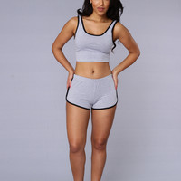 Hot Shot Shorts - Heather Grey/Black