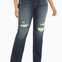 Torrid Relaxed Boot Jeans - Dark Wash with Destruction
