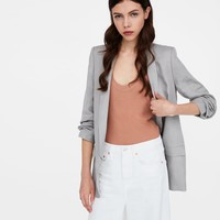 BLAZER WITH PLEATED SLEEVESDETAILS